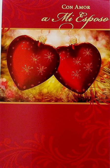 Amazon con amor a mi esposo feliz navidad merry christmas con amor a mi esposo feliz navidad merry christmas greeting card for my husband m4hsunfo