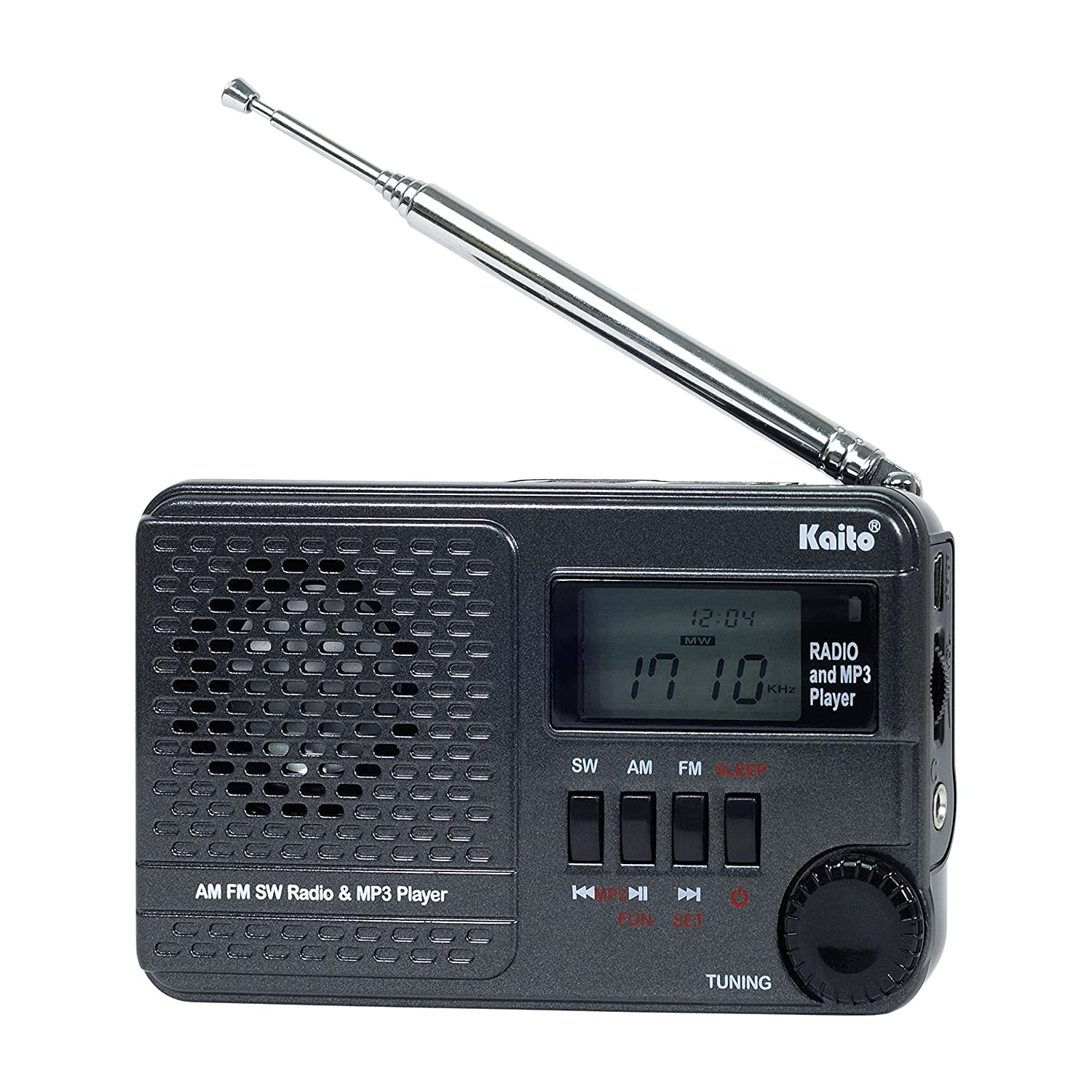 Amazon.com: Kaito KA345 Pocket Digital DSP (Digital Signal Processing) AM  FM Shortwave Clock Radio and MP3 Player with Micro-SD & USB Audio Input:  Car ...