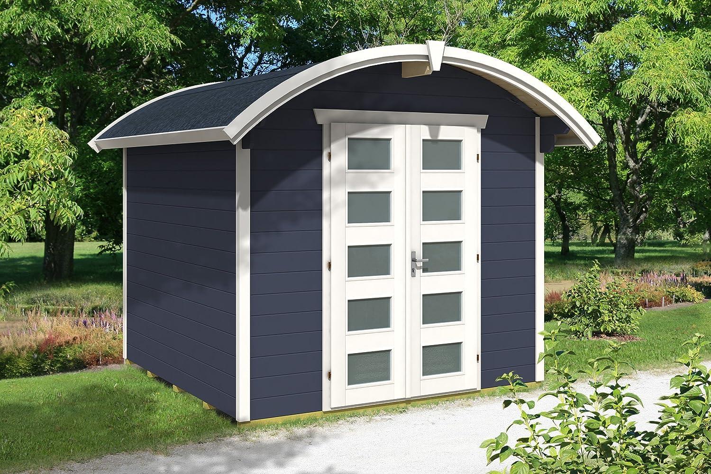 Skan Holz Cabaña Madera Listones Casa, Casas de jardín Delft, Color Gris, 250 x 250 x 252 cm: Amazon.es: Jardín
