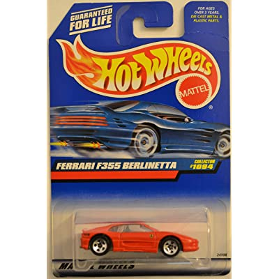 Hot Wheels Ferrari F355 Berlinetta Red #1094 HW 1:64 Scale Collectible Die Cast Model Car: Toys & Games