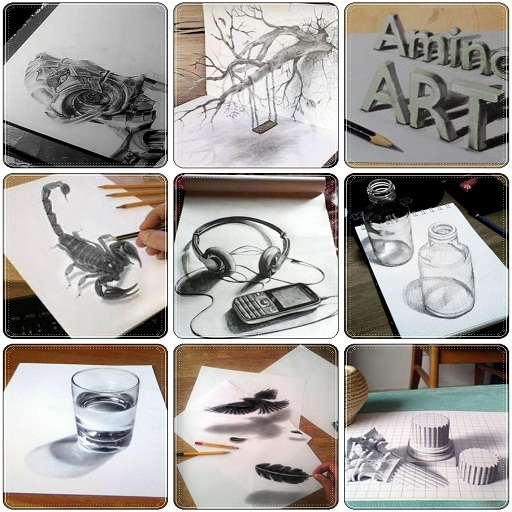3D Pencil Sketches For Beginners