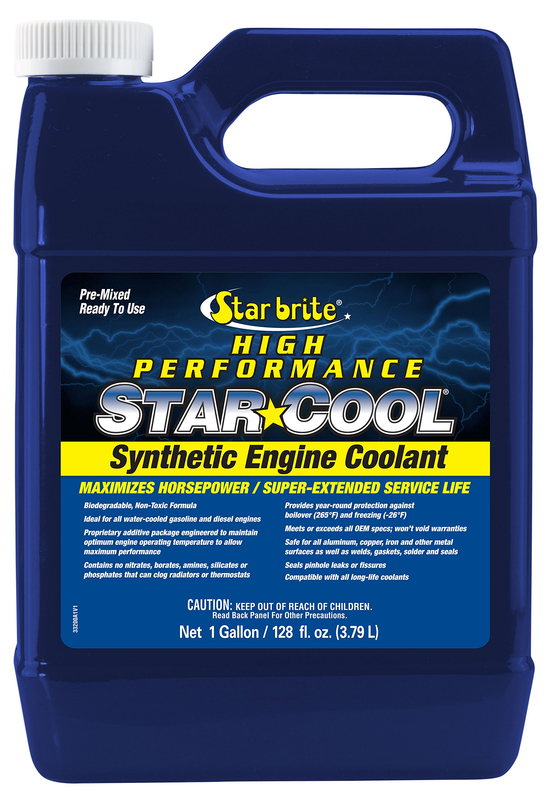 Star brite Star-Cool Premium Synthetic PG Engine Coolant - 1 gallon by Star Brite