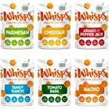 Whisps Cheese Crisps | Keto Snack, Gluten Free, Sugar Free, Low Carb, High Protein | 2.12oz (Pack of 6 (2.12OZ))