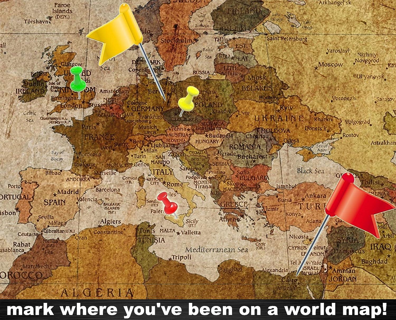 Fototapete weltkarte retro  Weltkarte Wanddekoration Vintage - Wandbild Retro Motiv XXL Poster ...