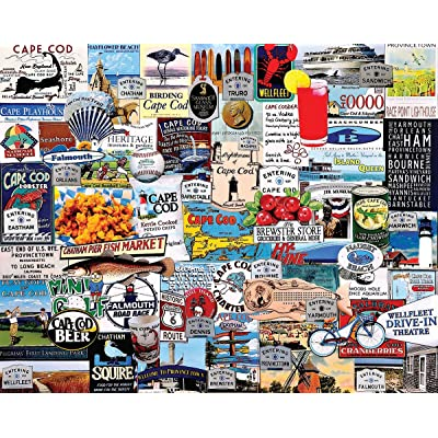 White Mountain Puzzles I Love Cape Cod - 1000 Piece Jigsaw Puzzle: Toys & Games