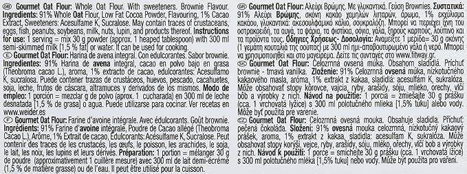 Weider Gourmet Harina de Avena, Sabor Chocolate - 1900 g