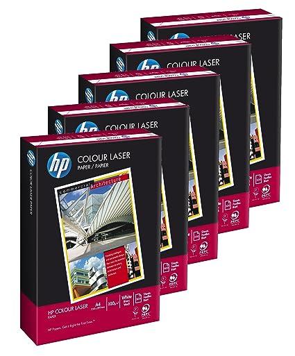 HP Colour Laser - Paquete de 5 x 500 hojas de papel para ...