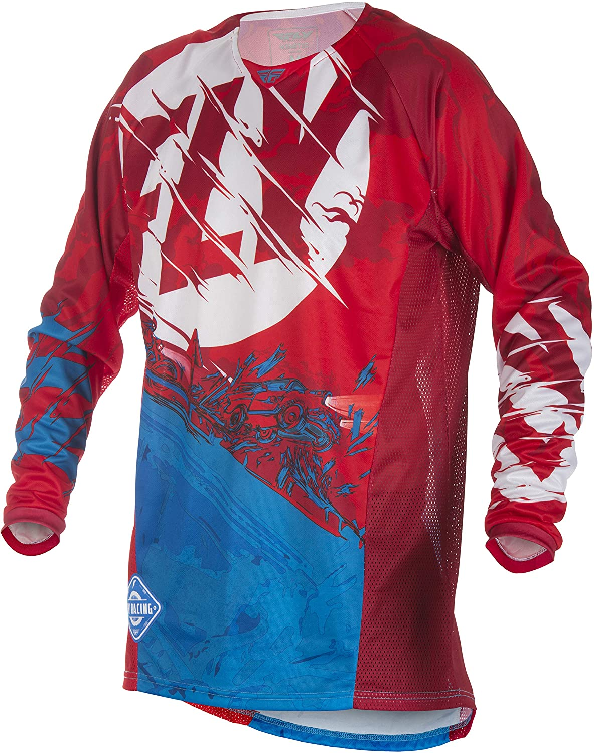 Fly Racing Mens Kinetic Outlaw Jersey Red//Blue Small 371-522S