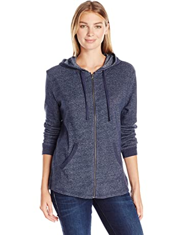 e17568376aad Hanes Women s French Terry Full-Zip Hoodie Sweatshirt