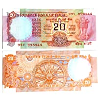 Rare Collection, 20Rupee Back On Konark Wheel Signed by C Rangarajan UNC Note for Collection