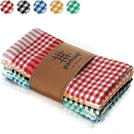 pamuq® paños de cocina de algodón 100%   paquete de 5   45 x 65 cm ...