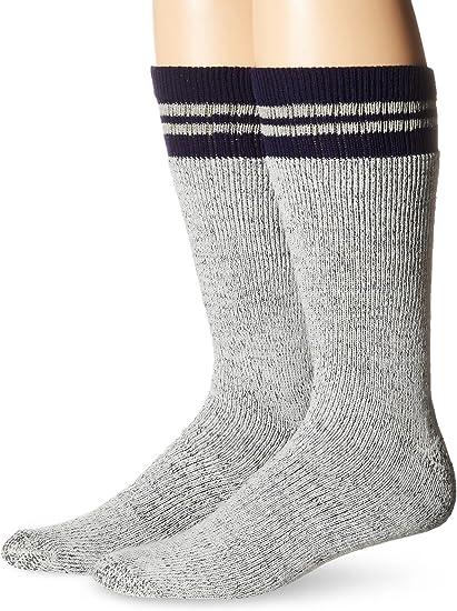Crew Socks Mens 6 Pack Heavy Duty Reinforced Grey Work Size 10-13 Shoe 6-12 Boot