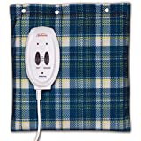 Sunbeam Heating and Massage Pad for Pain Relief   Small Flexi-Soft, 2 Heat & 2 Massage Settings with Auto-Off   Blue Plaid, 1