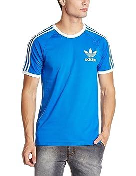 camiseta adidas hombre azul