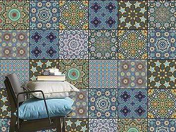 Mosaik Fliesenfolie Für Küchenrückwand Und Badfliesen | Abwaschbare  Fliesen Aufkleber   Dekor Fliesen überkleben