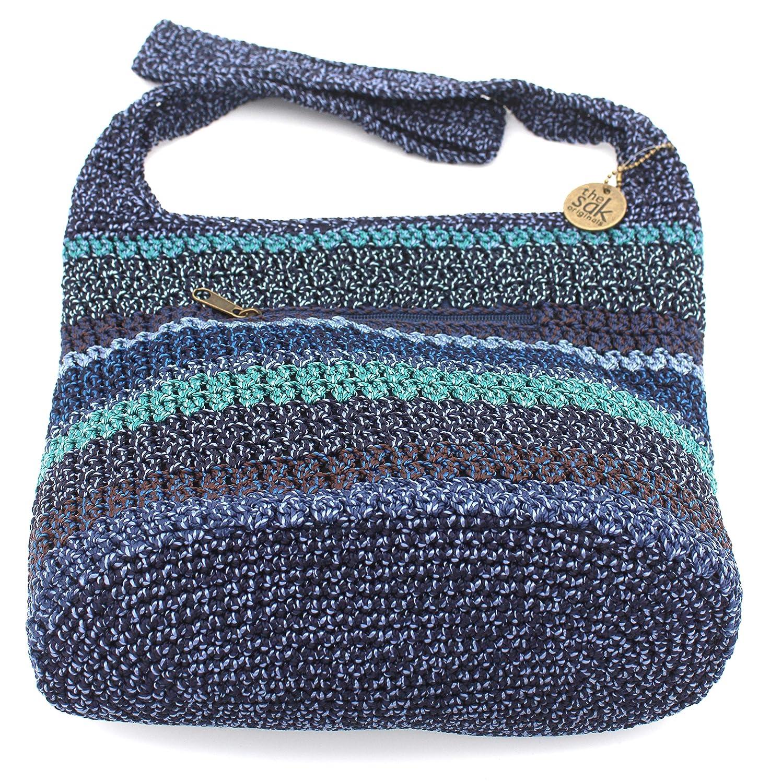 The Sak Amberly Crochet Shoulder Bag Neptune Stripe Handbags