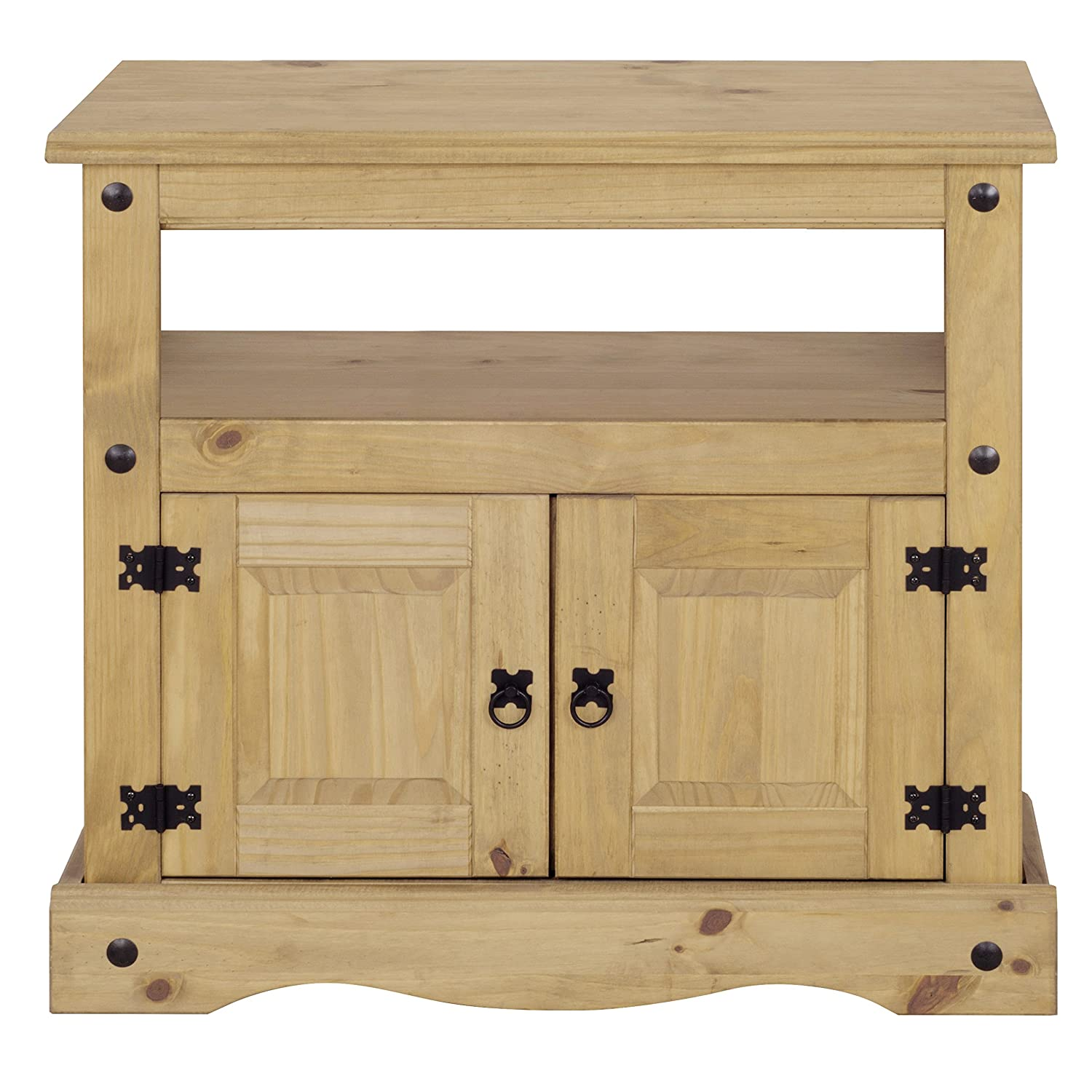 Corona 2 Door Wooden TV Stand Straight Unit Cabinet - Solid Pine Mews P2001-CR