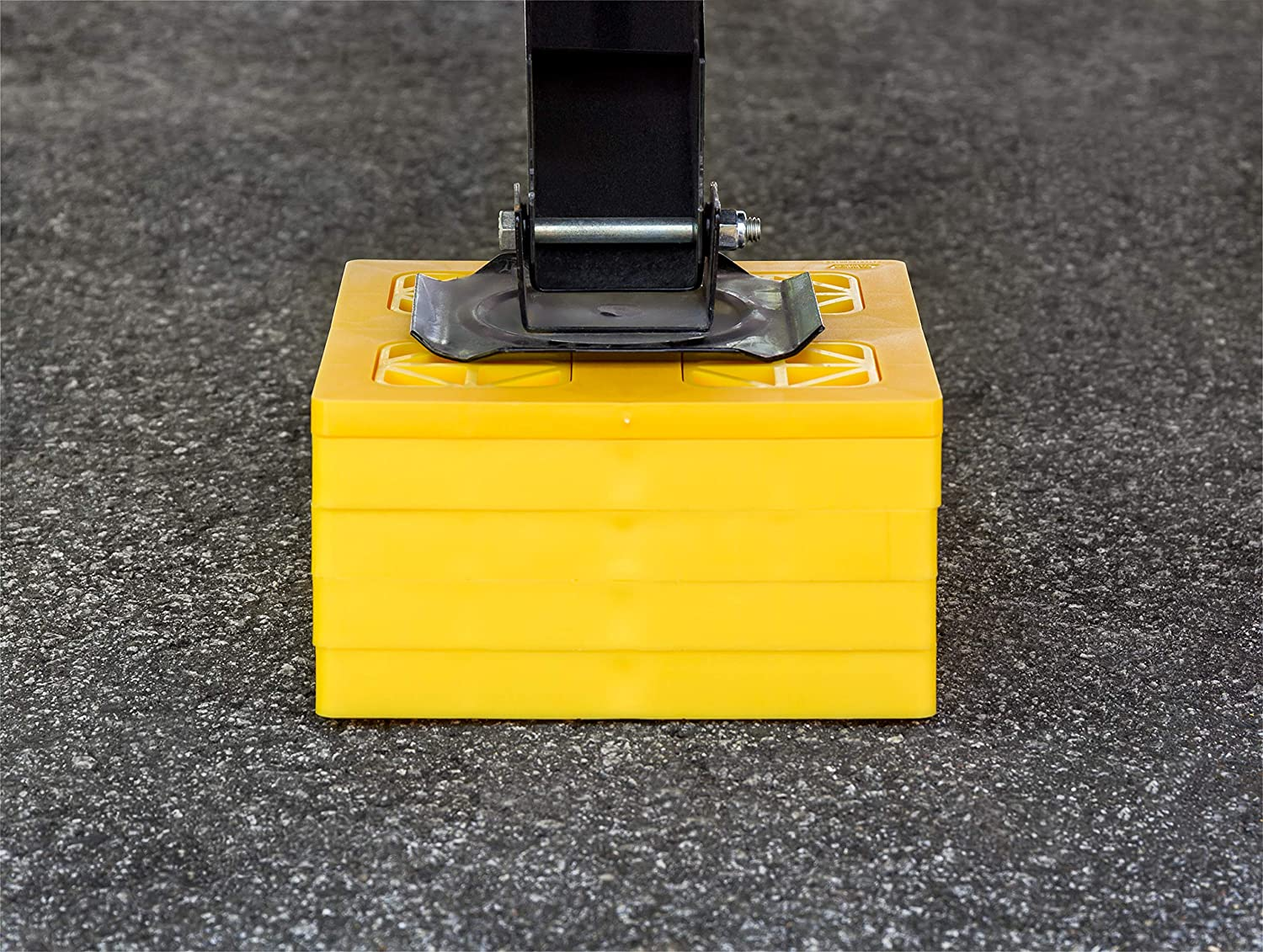 Yellow 10 Pack Camco 44515 Fasten Leveling Blocks With T Handle 4x2