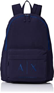 A X Armani Exchange Men s Eco-Nappa Backpacks, Black Gun Metal, One ... 39a833d4bf