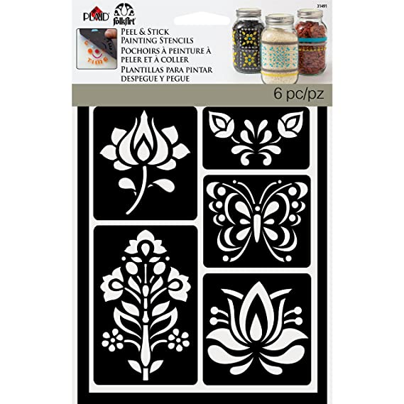 Amazon.com: FolkArt Painting Stencil, 5.875 by 8.25, 31491 Lace: Arts, Crafts & Sewing