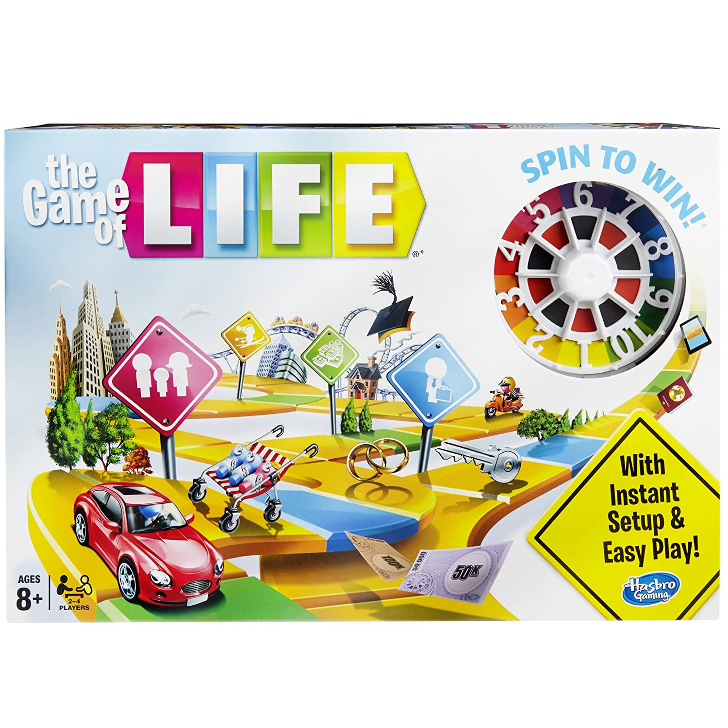 Buy Hasbro Gaming the Game of Life Game, Multi Color Online at Low Prices in  India - Amazon.in