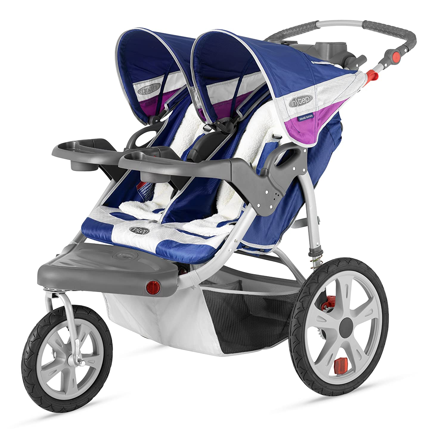 Amazon InStep Grand Safari Double Swivel Stroller Blue Grape Sports & Outdoors