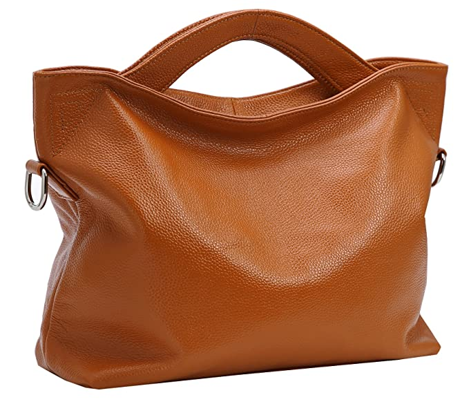 1b14f436314d8 Heshe Womens Leather Tote Top Handle Handbags Shoulder Bags Crossbody Bag  Ladies Purses for Office Ladies
