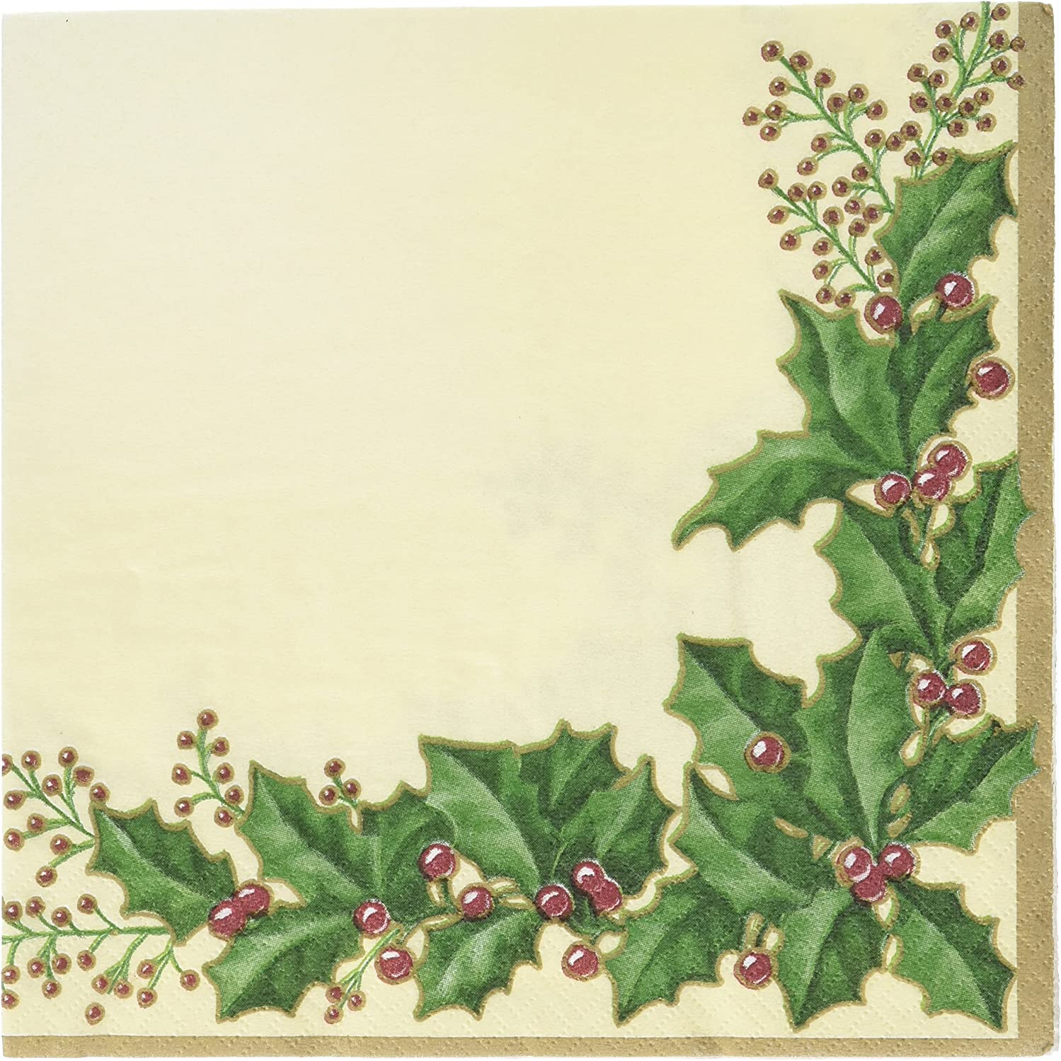 Creative Converting 55568 36 Count Winter Holly Paper Lunch Napkins
