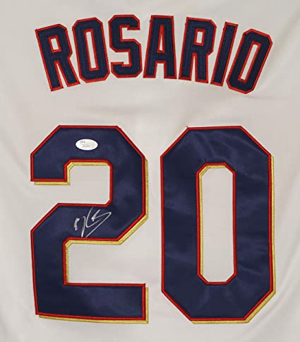 size 40 85017 6197a Eddie Rosario Minnesota Twins Signed Autographed White #20 ...