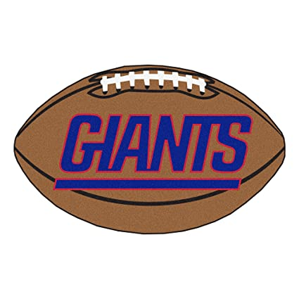 42ca7d762b0 Image Unavailable. Image not available for. Color: FANMATS NFL New York  Giants Nylon Face Football Rug