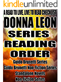 DONNA LEON:SERIES READING ORDER: A READ TO LIVE, LIVE TO READ CHECKLIST [Guido Brunetti Series]