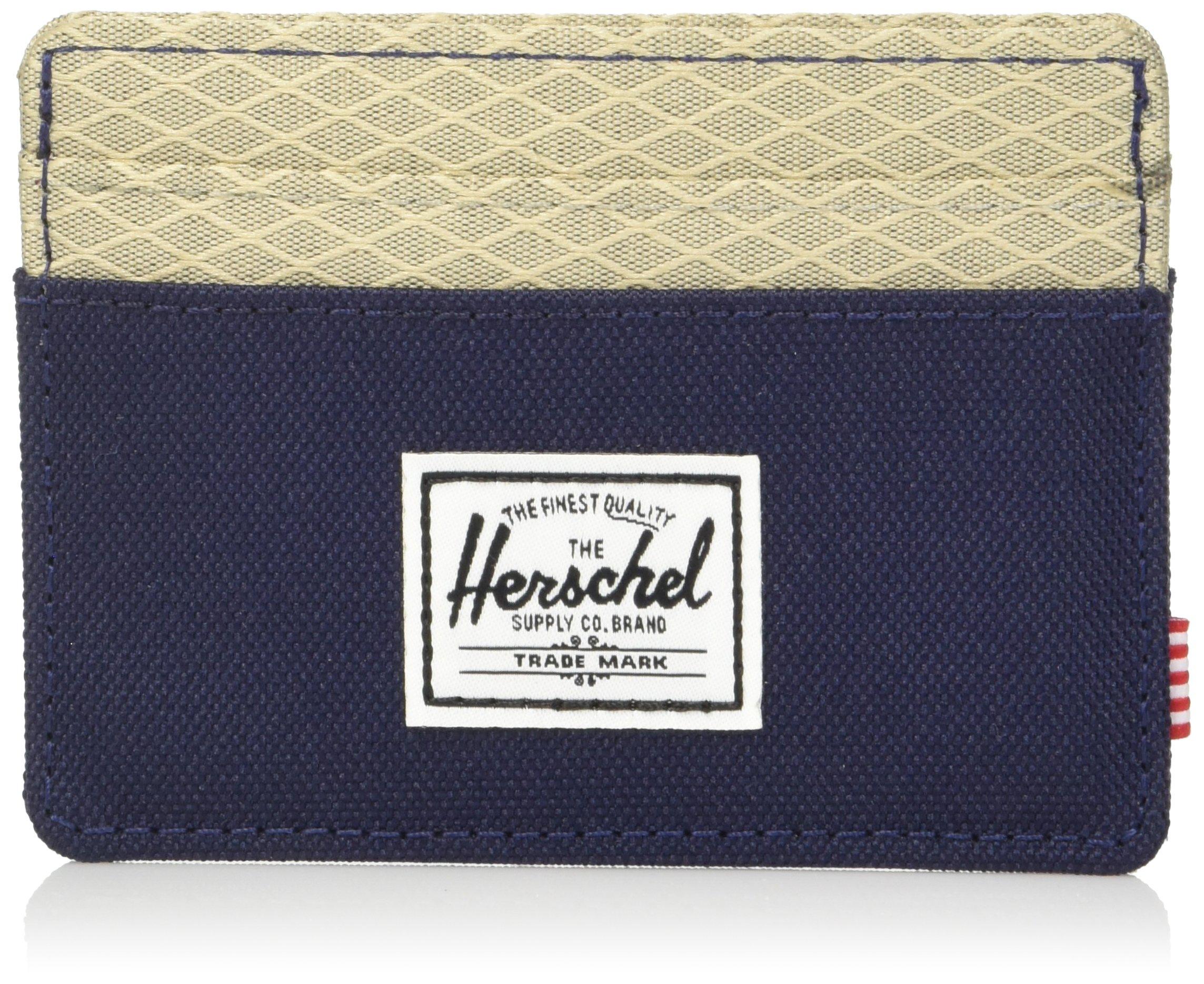 Herschel Supply Co. Unisex-Adults Charlie Rfid Wallet, Peacoat/Eucalyptus, One Size