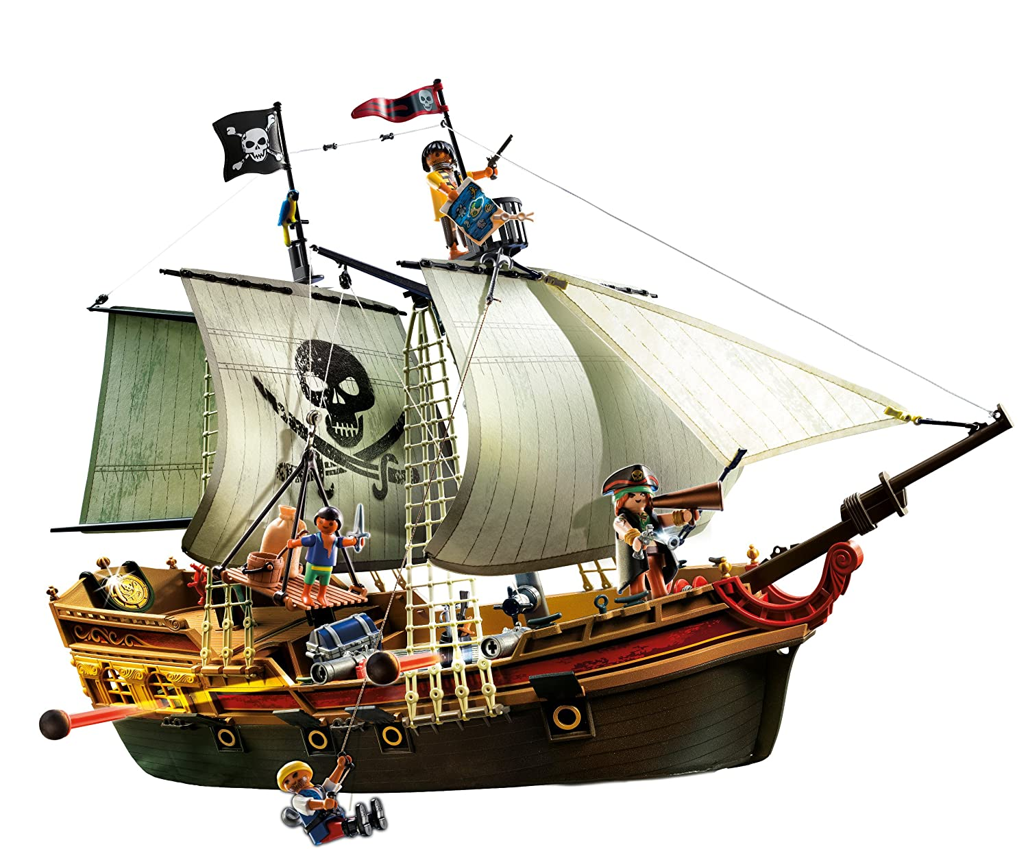 Amazoncom PLAYMOBIL Pirates Ship Discontinued by manufacturer