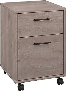 Bush Furniture Key West Collection 2 Drawer Mobile Pedestal in Washed Gray