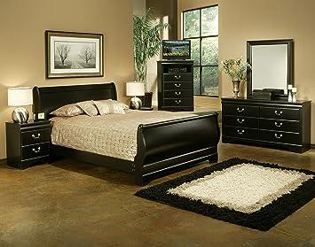 Amazon.com: Sandberg Furniture Regency 5 piece Bedroom Set, Queen ...