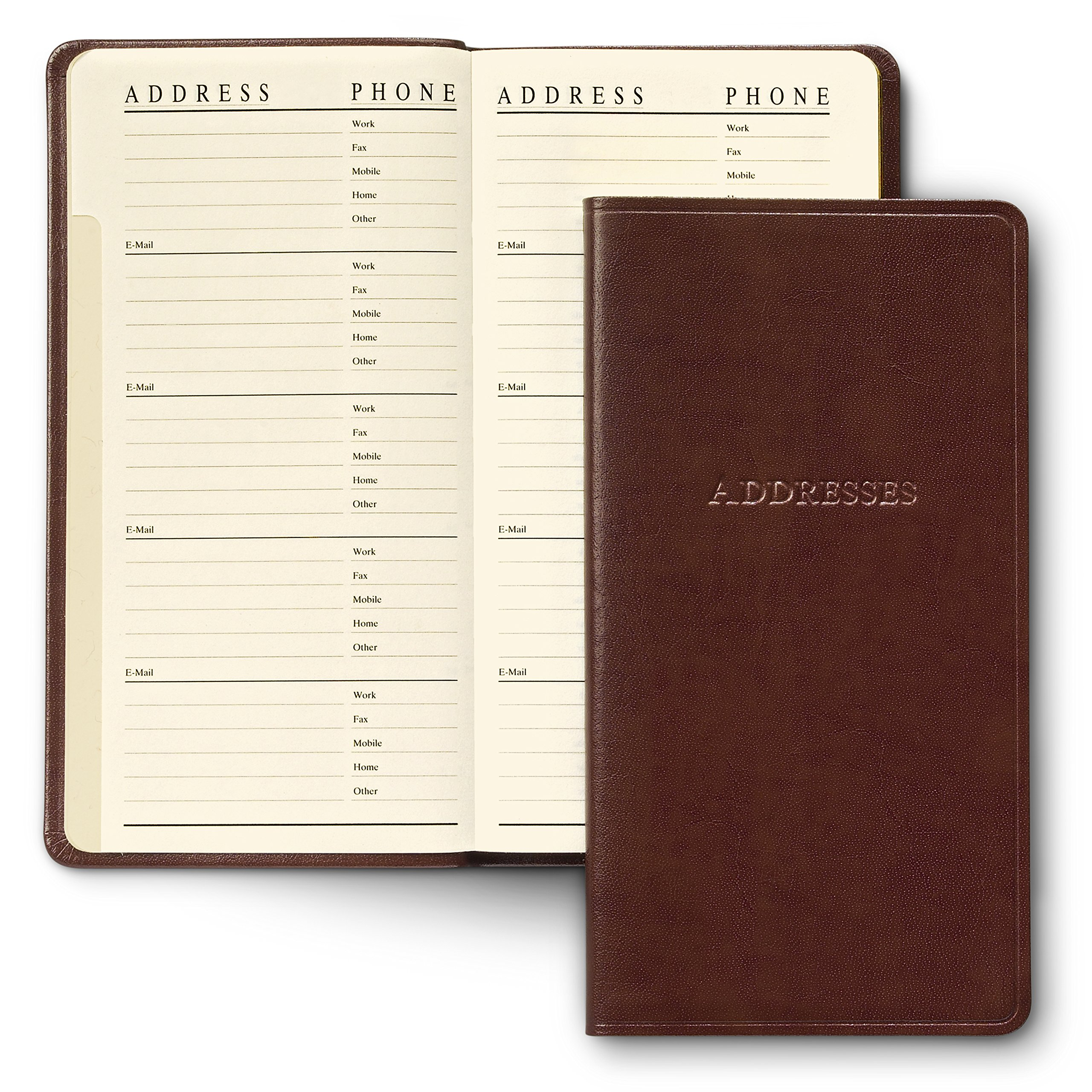 Gallery Leather Pocket Address Organizer Acadia Burgundy by Gallery Leather (Image #2)