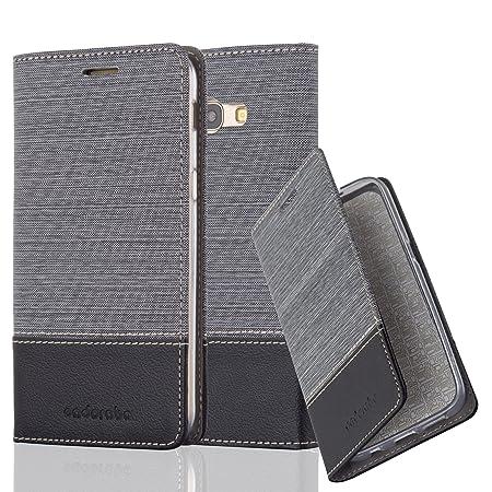 Cadorabo Stoff Hülle für Samsung Galaxy A5 2017 (7) in Grau Schwarz
