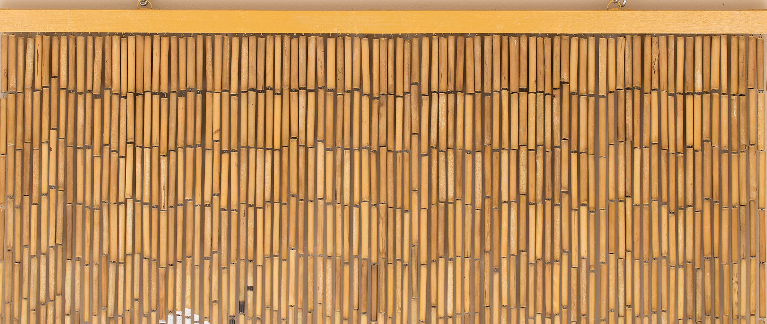 BeadedString Natural Bamboo Wood Beaded Curtain-90 Starnds-80 High-Boho Door Beads-Bohemian Doorway Curtain-35.5'' Wx80 H-Blossom by BeadedString (Image #9)