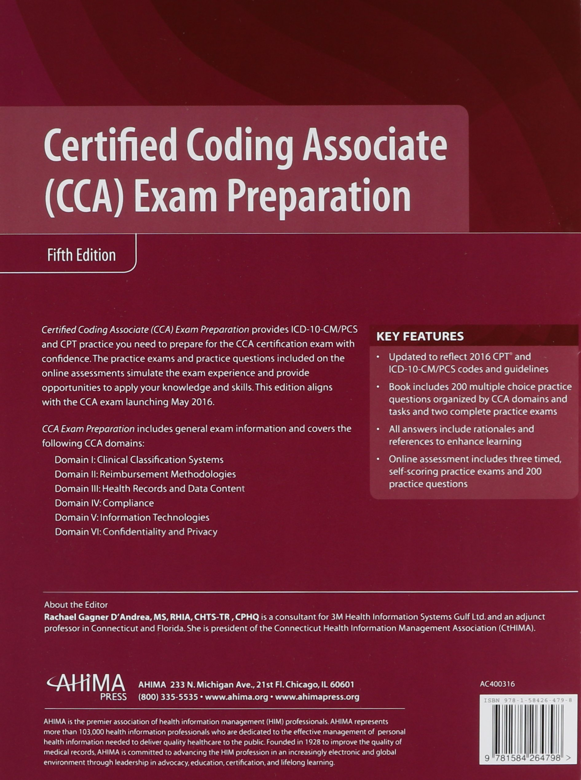 Buy Certified Coding Associate Cca Exam Preparation Book Online At