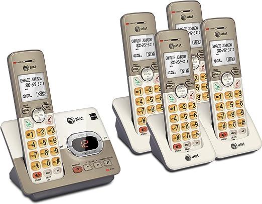 AT & T 5 Terminal DECT 6.0 – con teléfono Inalámbrico (1) EL52313 Sistema de teléfono y (2) EL50013 terminales: Amazon.es: Electrónica
