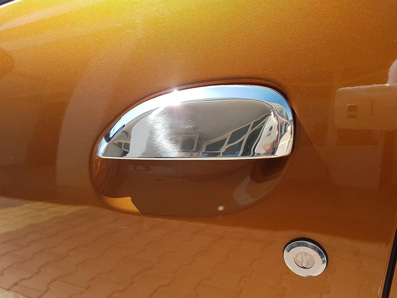 4 Unidades Cubiertas de INOX cromadas Tiradores de Puerta de Acero Inoxidable Pulido con Espejo