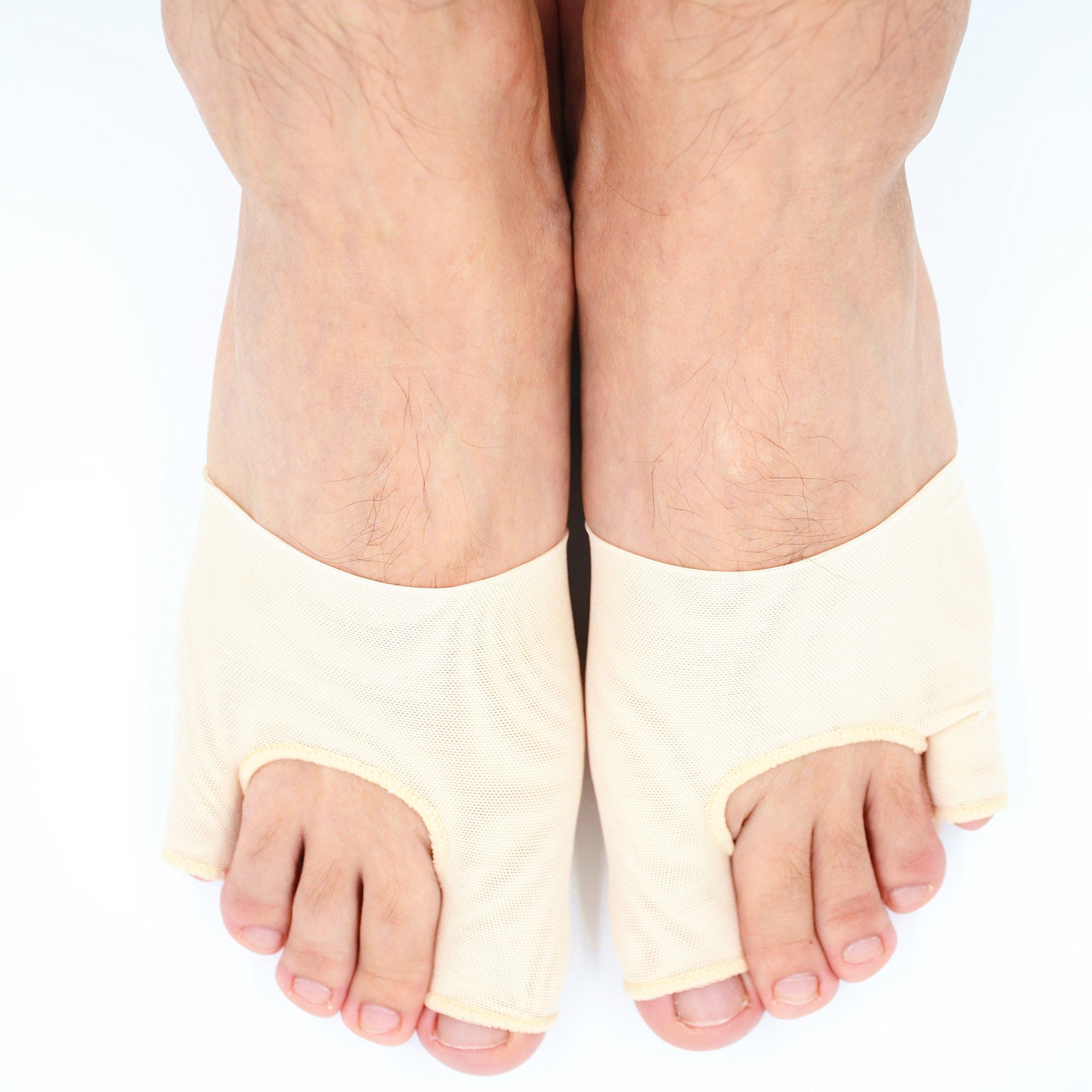 Dr.Koyama Bunion Aid Sleeves Big Toe Bunion Pain Relief Tailor's Bunion Regulator Bunion Toe Straightener Separator Pinky Toe Bunion Protector for High Heels-Small