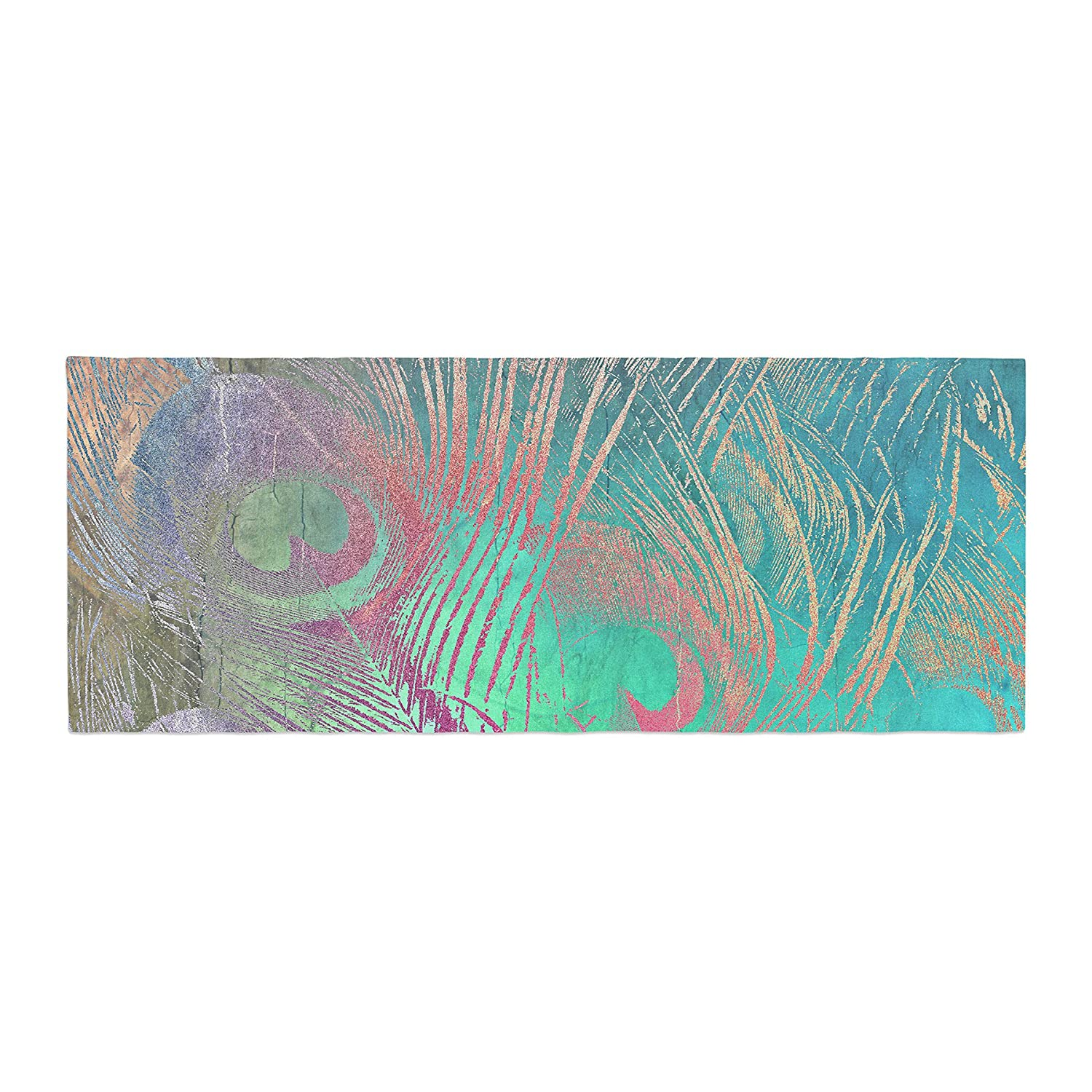 Kess InHouse Alison Coxon Indian Summer Purple Teal Abstract Bed Runner, 34