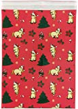 Poly Mailers, Christmas Holiday Unicorn Mailer Bags, 10x13, 25 Count Pack, Designer Print Packaging and Shipping Envelopes with Self Seal Flap