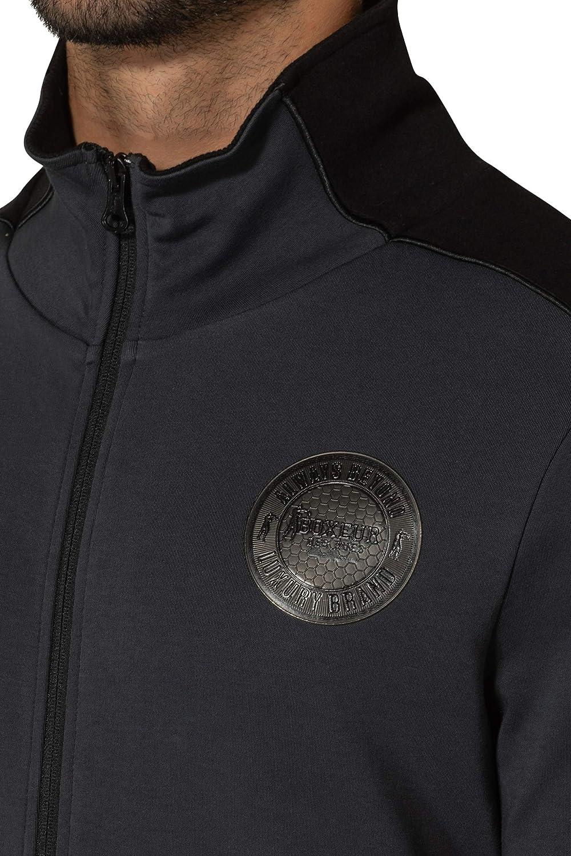 BOXEUR DES RUES - Man High Neck Interlock Full Zip Sweatshirt, Man Anthracite