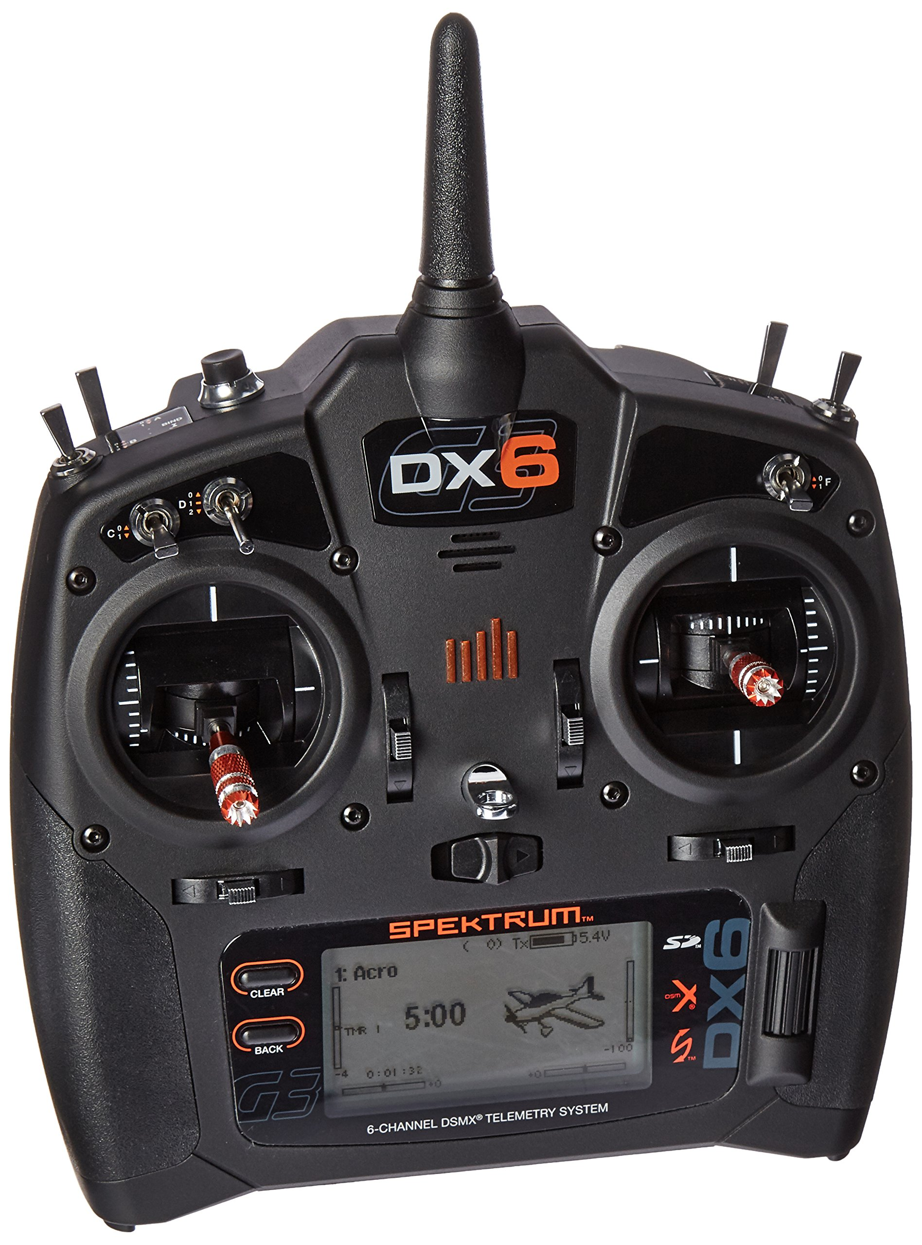 Spektrum DX6 6-Channel 2.4GHz DSMX RC Radio Transmitter Only, SPMR6750