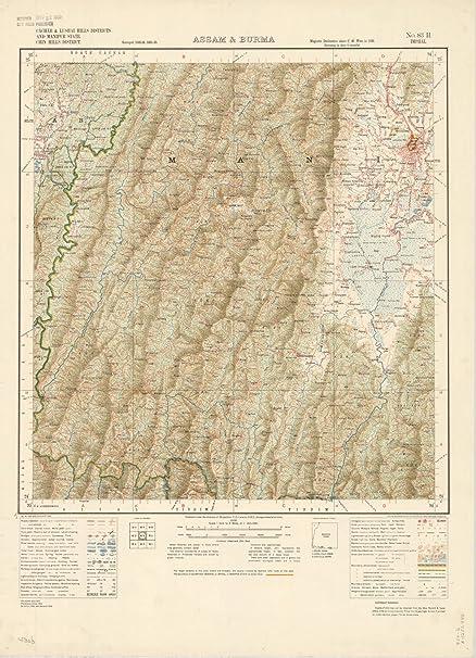 Amazon Com Historic Map Cachar Lushai Hills Districts And