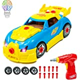 Brainnovative Take Apart Car Toy For Kids- Build Your Own Car With 30 Take Apart Toys Piece Construction Set - 2 Different Models With Realistic Engine Sounds And Lights- Best Toy For Children Ages 3+