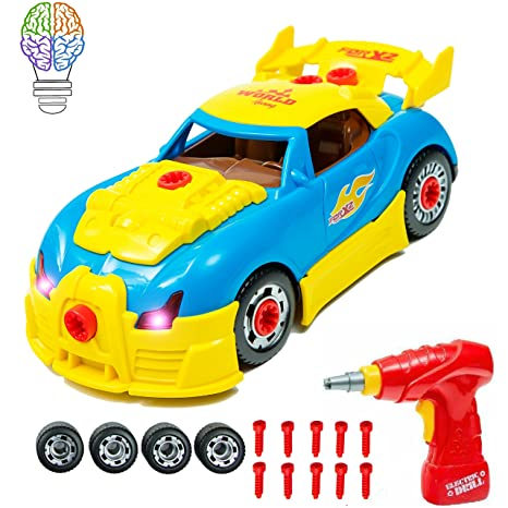 Build Your Own Car >> Brainnovative Take Apart Car Toy For Kids Build Your Own Car With 30 Take Apart Toys Piece Construction Set 2 Different Models With Realistic