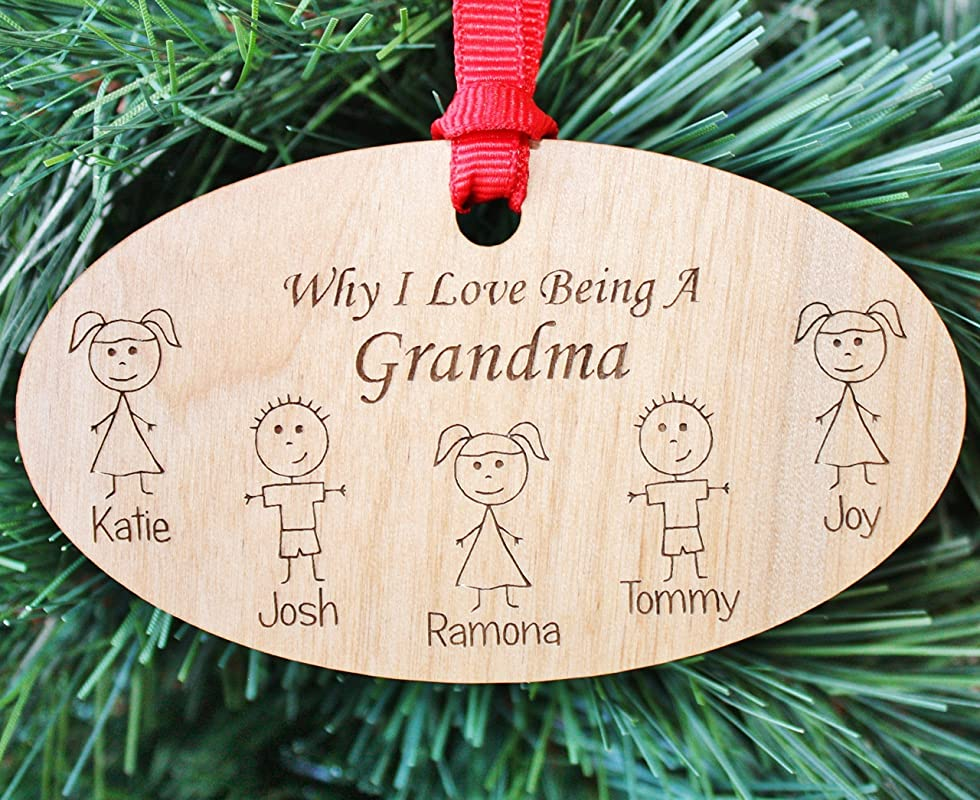 Snowman Grandparent Grammy and Grampa Personalized Christmas Ornament Handpainted Gift